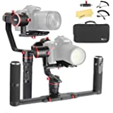 Feiyu a2000 Dual Hand Grip Kit 3-Axis Camera Gimbal FeiyuTech Alpha Stabilizer for Canon 5D Series, SONY A7 Series a6500, Panasonic GH4/GH5, Payload: 250-2000g Cameras, /w Carrying Case.