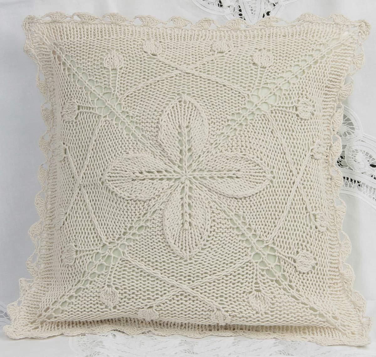 Amazon.com: Creative ropa de cama Algodón Crochet Pillow ...