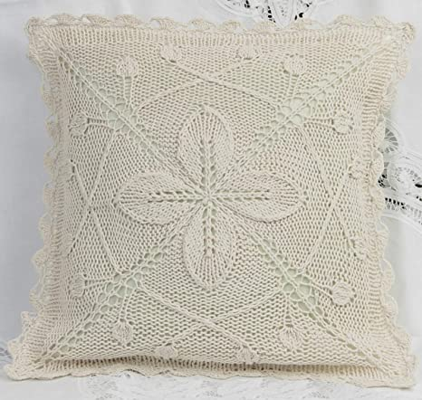 Amazon.com: Creative ropa de cama Algodón Crochet Pillow ...
