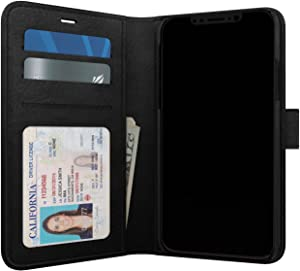 Skech Polo Book Wallet Protective Cover Detachable Case for Apple iPhone Xs/X - Black