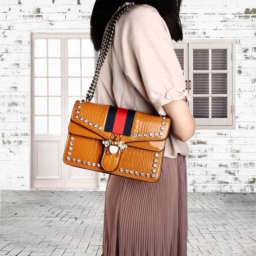 OLYLY Designer Shoulder Bag for Women Fashion Bee Crossbody Bag Handbags with Chain