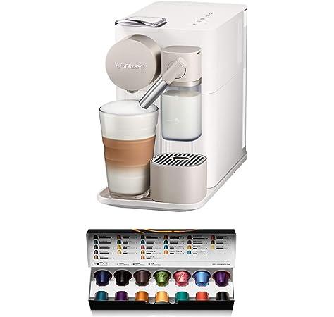 Nespresso DeLonghi Lattisima Touch Animation EN560.W - Cafetera monodosis de cápsulas Nespresso con depósito de leche, 6 recetas seleccionables, 19 bares, apagado automático, color blanco: 233.8: Amazon.es: Hogar