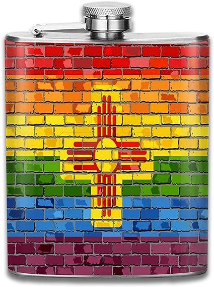 Brick Wall - Petaca pequeña de acero inoxidable para hombre ...