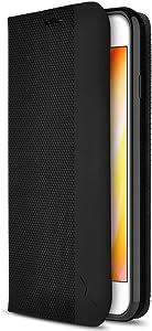 ZIZO Wallet Series for iPhone 7 Plus/iPhone 8 Plus Case - Card Slot Kickstand Vegan Leather - Black