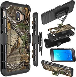 Galaxy J2 Case,Galaxy J2 Core Case/J2 Dash/J2 Pure/J260/J2 Shine Holster Case, Zoeirc Shock Proof Phone Case Cover with Belt Clip Holster for Samsung Galaxy J2 2019 (camo)