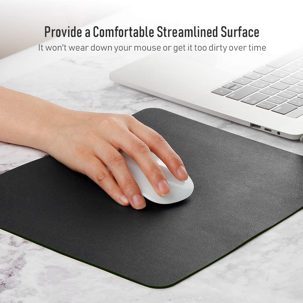 Blue /& Yellow Mouse Pad ATAILORBIRD Dual-Sided Mat Waterproof PU Leather Mousepad 10.6x8.2for Home Office