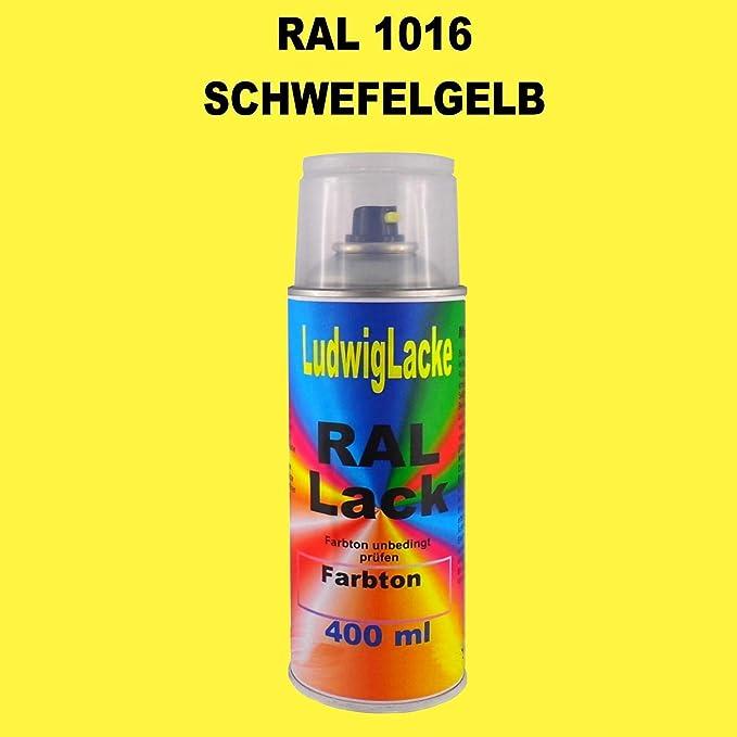 Ral 1016 Schwefelgelb Seidenmatt 400 Ml 1k Spray Auto