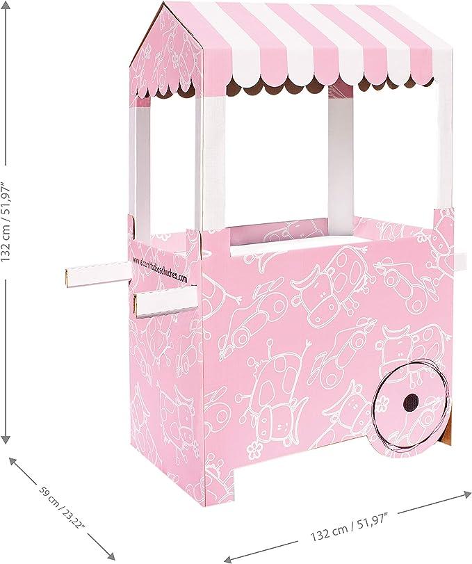 Carro de Chucherías de Cartón, Medidas 132centimeter(alto) x 100centimeter(ancho) x 59centimeter(profundidad) - Candy Bar: Amazon.es: Hogar