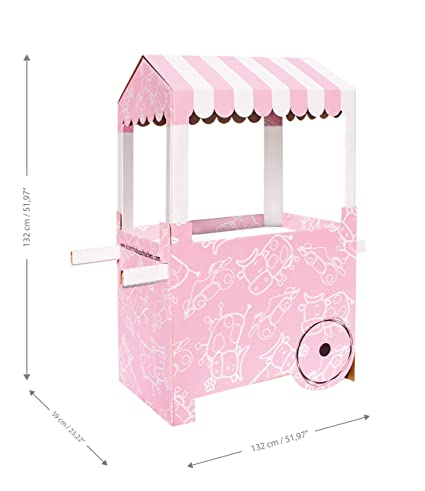 Carro de Chucherías de Cartón, Medidas 132centimeter(alto) x 100centimeter(ancho) x 59centimeter(profundidad) - Candy Bar