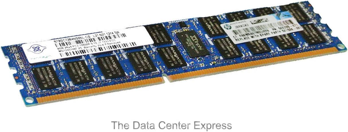 HP 8GB (1x8GB) Dual Rank x4 PC3-10600 (DDR3-1333)Server Memory (Not for Personal Computers)