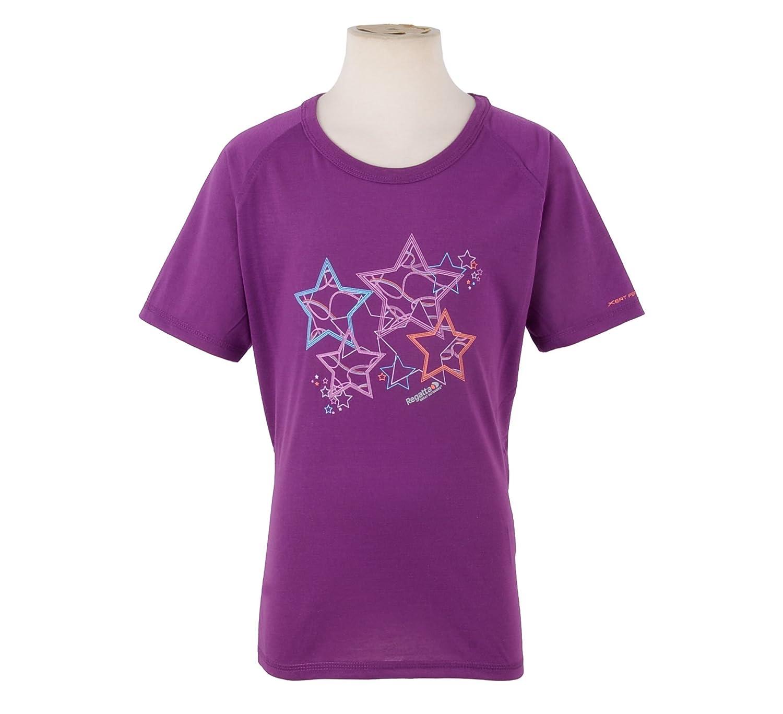 Regatta Girls Myral Casual Smart Outdoor Short Sleeve T Shirt Purple **RRP /£10**