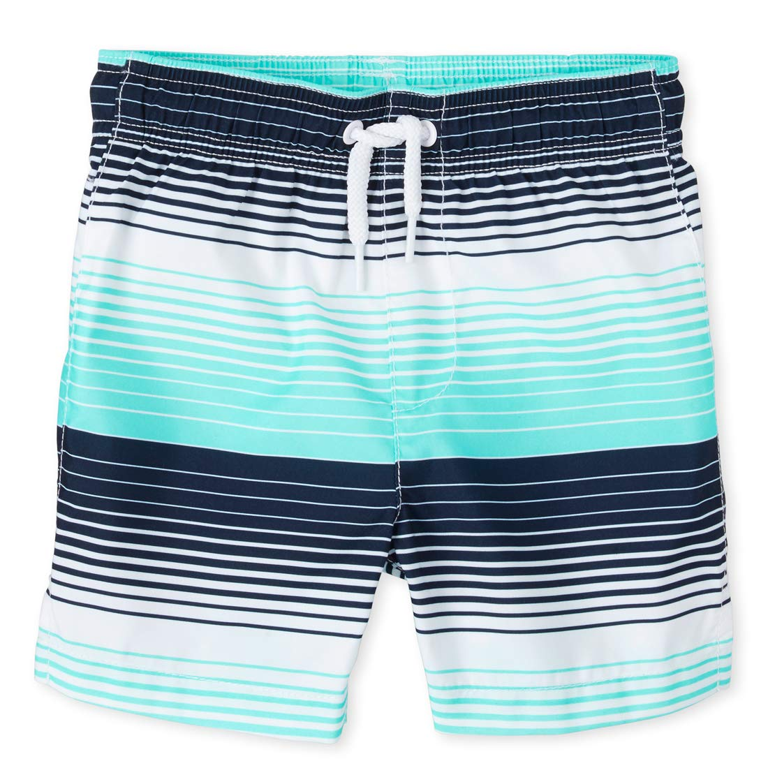 The Childrens Place Boys Graphic Printed Swim Trunks