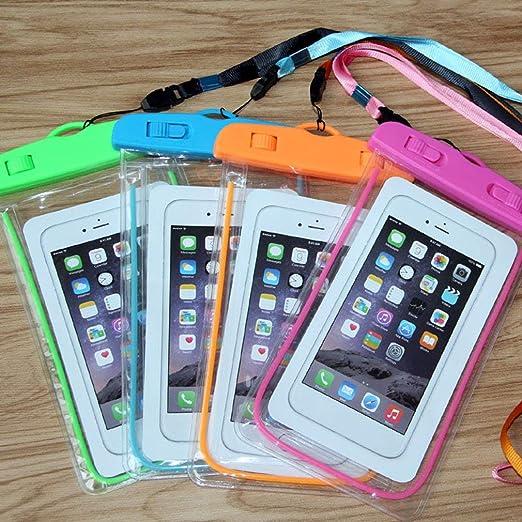 creatspaceE Luminous Waterproof Bag Natación Waterproof Cell Phone ...