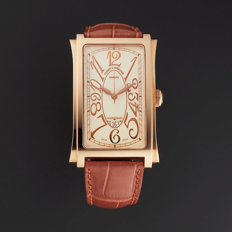 Reloj Caballero Oro C1012.8C Cuervo y Sobrinos Prominente: Amazon.es: Relojes