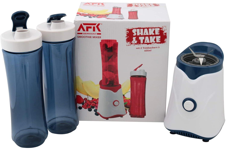 Smoothie Licuadora AFK Shake & Take Azul con 2 vasos combinados ...