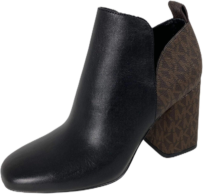 D25 Tronchetto Donna MICHAEL KORS Black/Brown Logo Boot Women