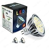 Energmix 2379-2x 2x MR16 GU5.3 SMD LED SPOT Lampe LED Strahler Mit Schutzglas Kaltweiß