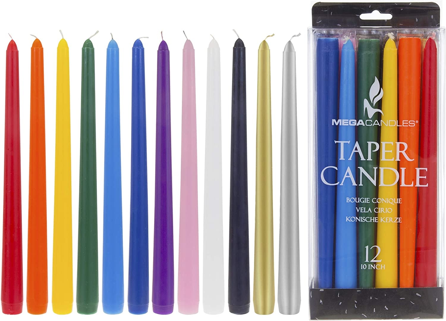 Rituals Mega Candles 40 pcs Unscented Black Mini Taper Candle 4 Tall x 1//2 Diameter Wax Play /& More Spells Great for Casting Chimes