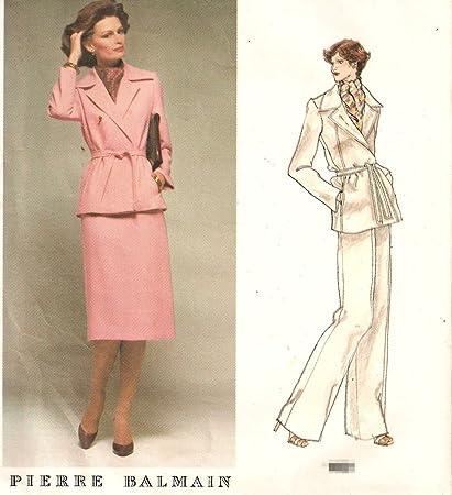 Amazon.com: Vogue Pierre Balmain Vintage Sewing Pattern 1601 Misses ...