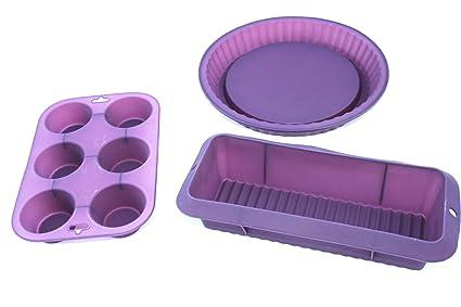 KITS.CAT - Kit de Moldes de Silicona para Tartas y Delantal Chef Pastelero