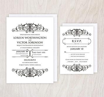 Wedding Invites With Rsvp Burge Bjgmc Tb Org