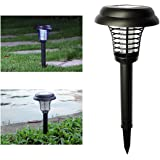 Wrcibo Mosquito Killer Mosquito Zapper Electronic Insect Bug Worm Killer LED Solar Powered Outdoor Garden Lawn Camping Lamp Whole Night Protector 2 in 1 Zapper and Light
