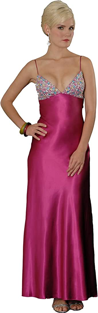 Amazon.com: Long Evening Gown Beaded Prom Dress (70298