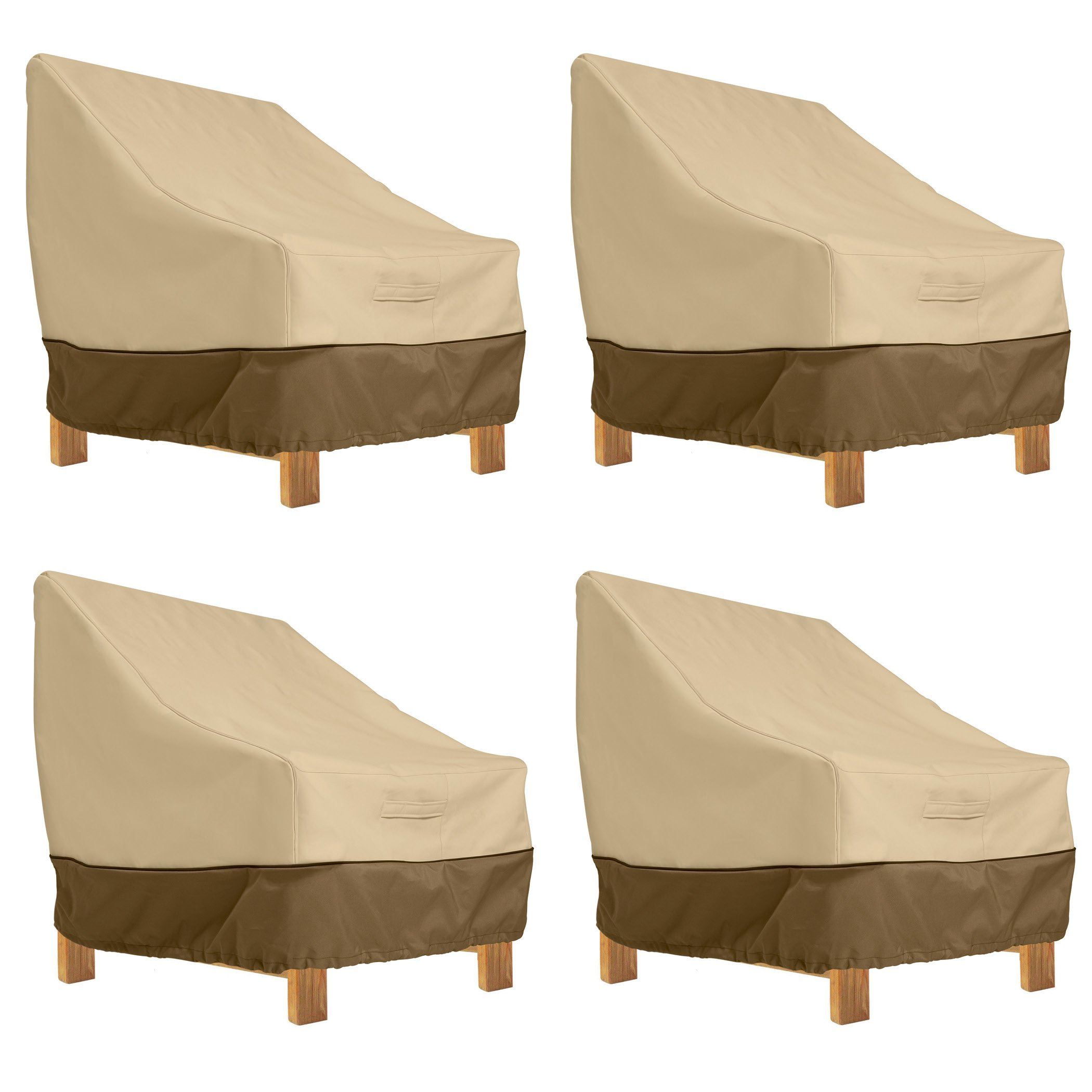 Classic Accessories Veranda Patio Deep Seat Lounge Chair Cover (4-Pack)