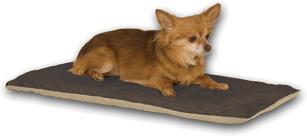 Amazon Com K H Pet Products Thermo Pet Mat Heated Pet Bed Mocha 14 X 28 6w Pet Beds Pet Supplies