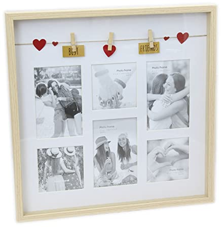 Clothes Line Wooden Box Style Display With Pegs Multi Collage Photo