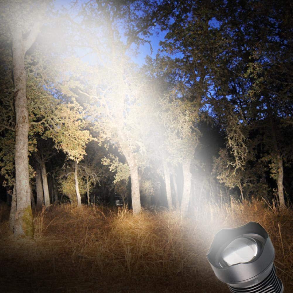 Enfoque de Ajustable Port/átil Linternas LED para acampar Led Linterna Recargables USB 50000 Lumen de Resistente Al Agua S/úper Brillante con 3 Modo