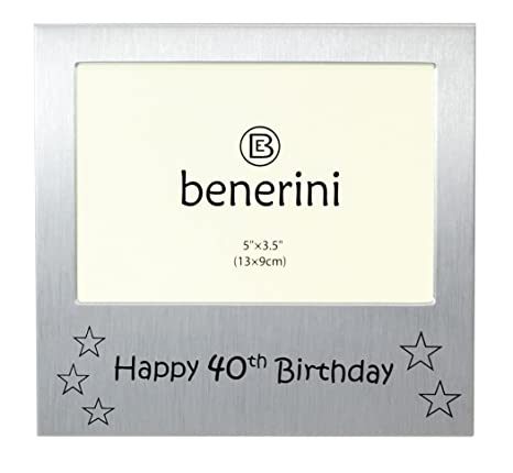 Amazoncom Benerini Happy 40th Birthday Photo Frame Gift Photo