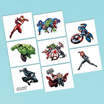 Marvel Epic Avengers Tattoos, Party Favor