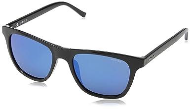 Police Herren Sonnenbrille S1936, Blau (Shiny Black), Einheitsgröße