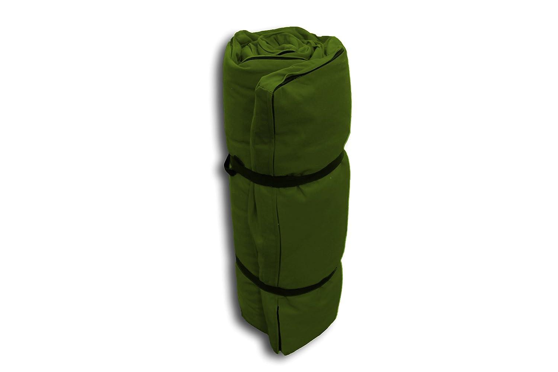 Futon Portable Vert foncé - 200x80x4 cm