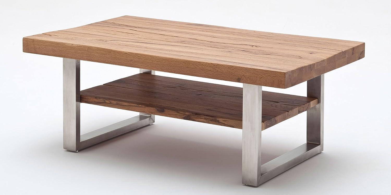 couchtisch castello massivholz massiv edelstahl eiche bassano wohnzimmer tisch jetzt kaufen. Black Bedroom Furniture Sets. Home Design Ideas