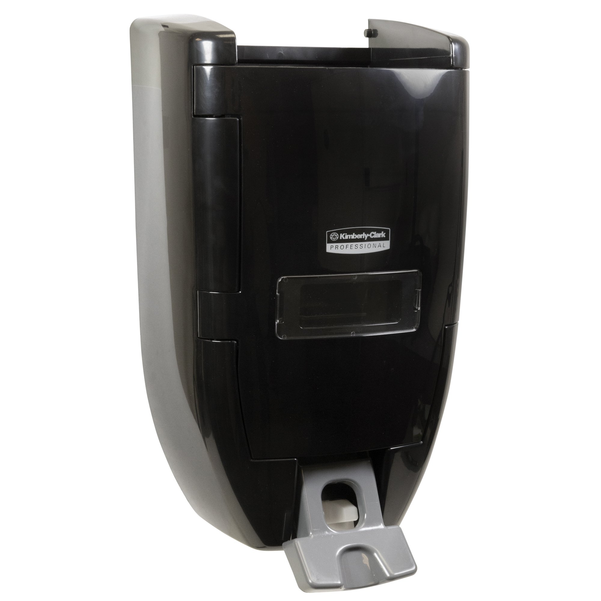 "Kimberly Clark Professional Sani-Tuff Push Soap Dispenser (92013), 10.8"" x 7.0"" x 17.8"", 3.5 or 8 Liter Soap Refills, Smoke/Black, 1 / Case"