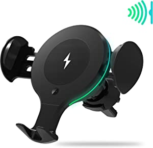 Wireless Car Charger Mount,Cell Phone Holder,Samsung Wireless Charger,10W Qi Fast Charging Air Vent Holder,Applus,for iPhone 11/11 Pro/11 Pro Max/Xs MAX/XS/X/XR,Samsung Note10/S10/S10+/S9/S9+,More