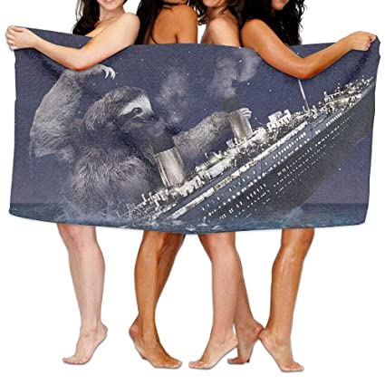 Home Hotel Toallas de baño sábanas Sloth Sinking Titanic Ultra Picnic Mat Hombre Mujer Niños Suavidad