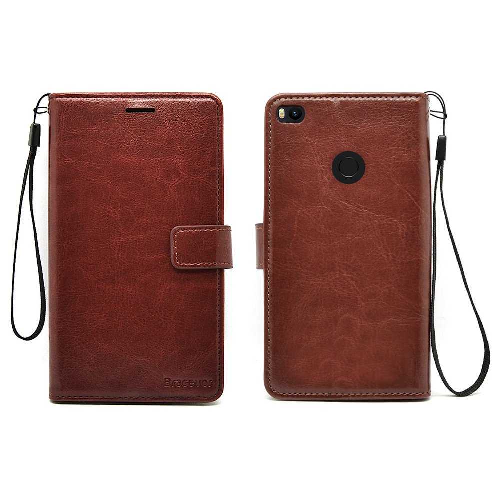 huge selection of 0e62e eca50 Bracevor Flip Cover Leather Case | Inner TPU | Wallet Stand for Xiaomi Mi  Max 2 - Executive Brown