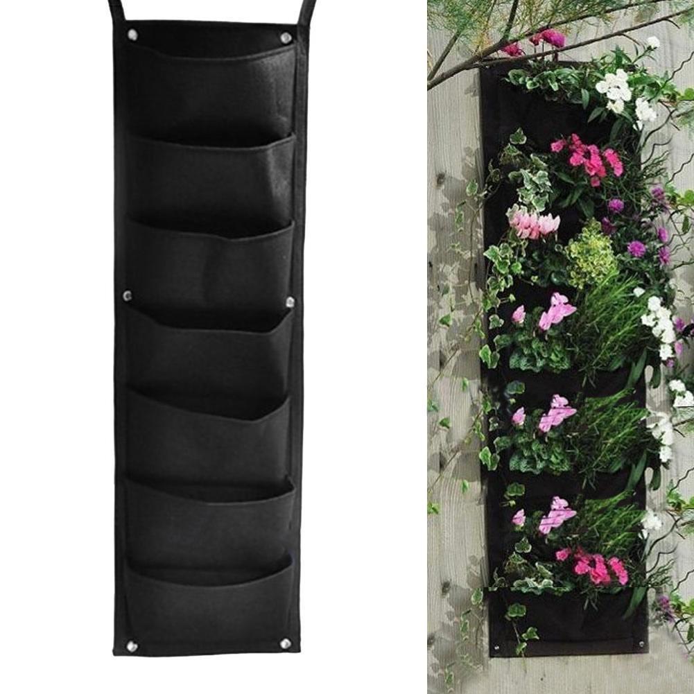 PB PEGGYBUY 7 bolsillos para colgar maceta vertical de jardín pared interior exterior hierba maceta decoración: Amazon.es: Hogar