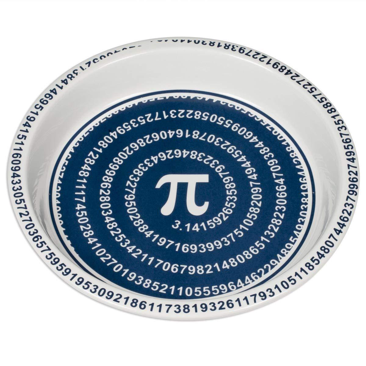 ComputerGear Pi Day Pie Plate Math Mathematical Symbol Ceramic Pan Dish 10''