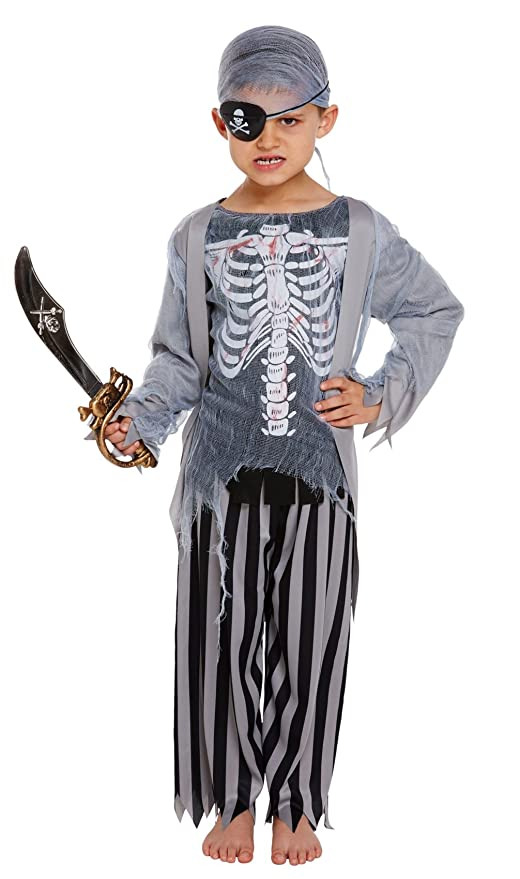 fancy dress costume accessory SCARY PIRATE CAPTAIN SKULL SWORD HALLOWEEN