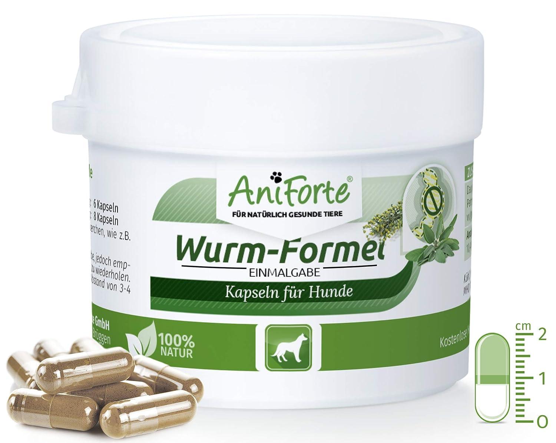 AniForte Wurm-Formel 10 Kapseln für Hunde, Praktische und 100 Prozent natürliche Einmalgabe Bei und Nach Wurmbefall Görges Naturprodukte GmbH
