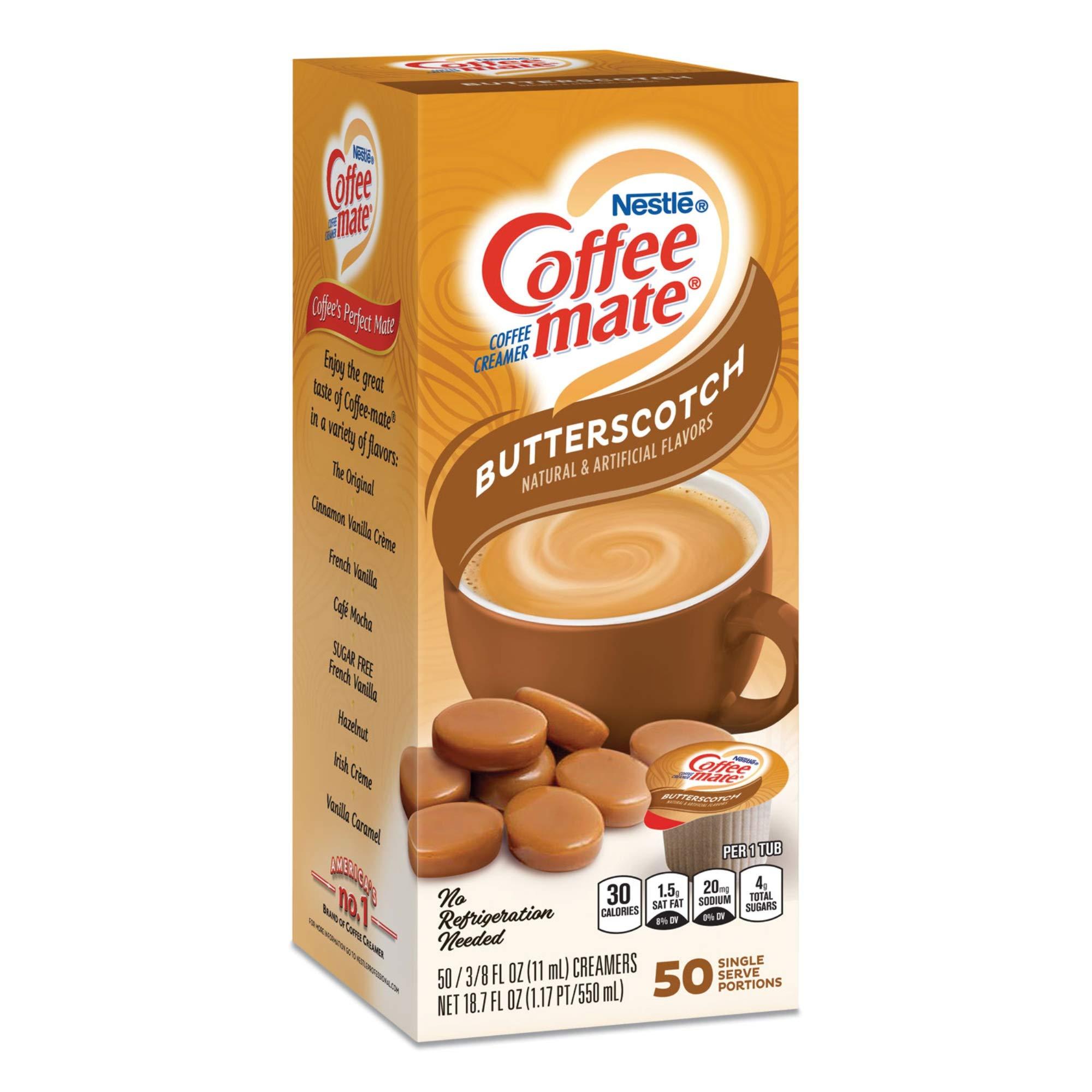 Butterscotch Coffee Creamer - 50 Single Serve Portions (3/8 Oz Each)