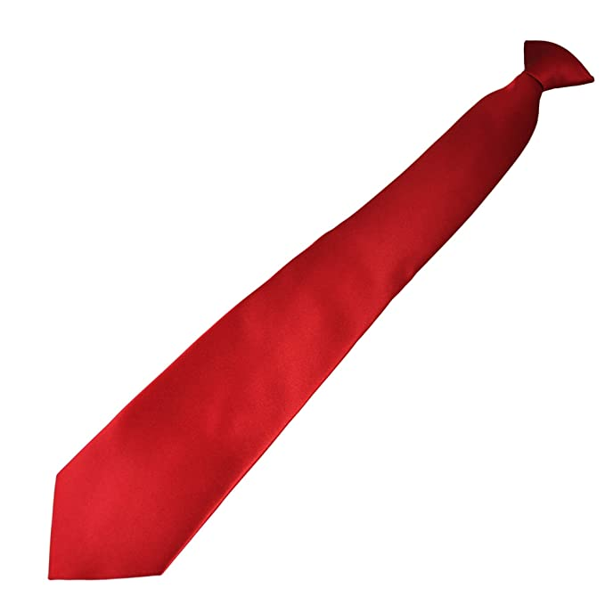 035f1c81435b5 Plain Blood Red Clip On Tie  Amazon.co.uk  Clothing