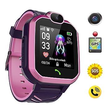 Discoball - Reloj Inteligente GPS para niños, IP67 Impermeable LBS ...