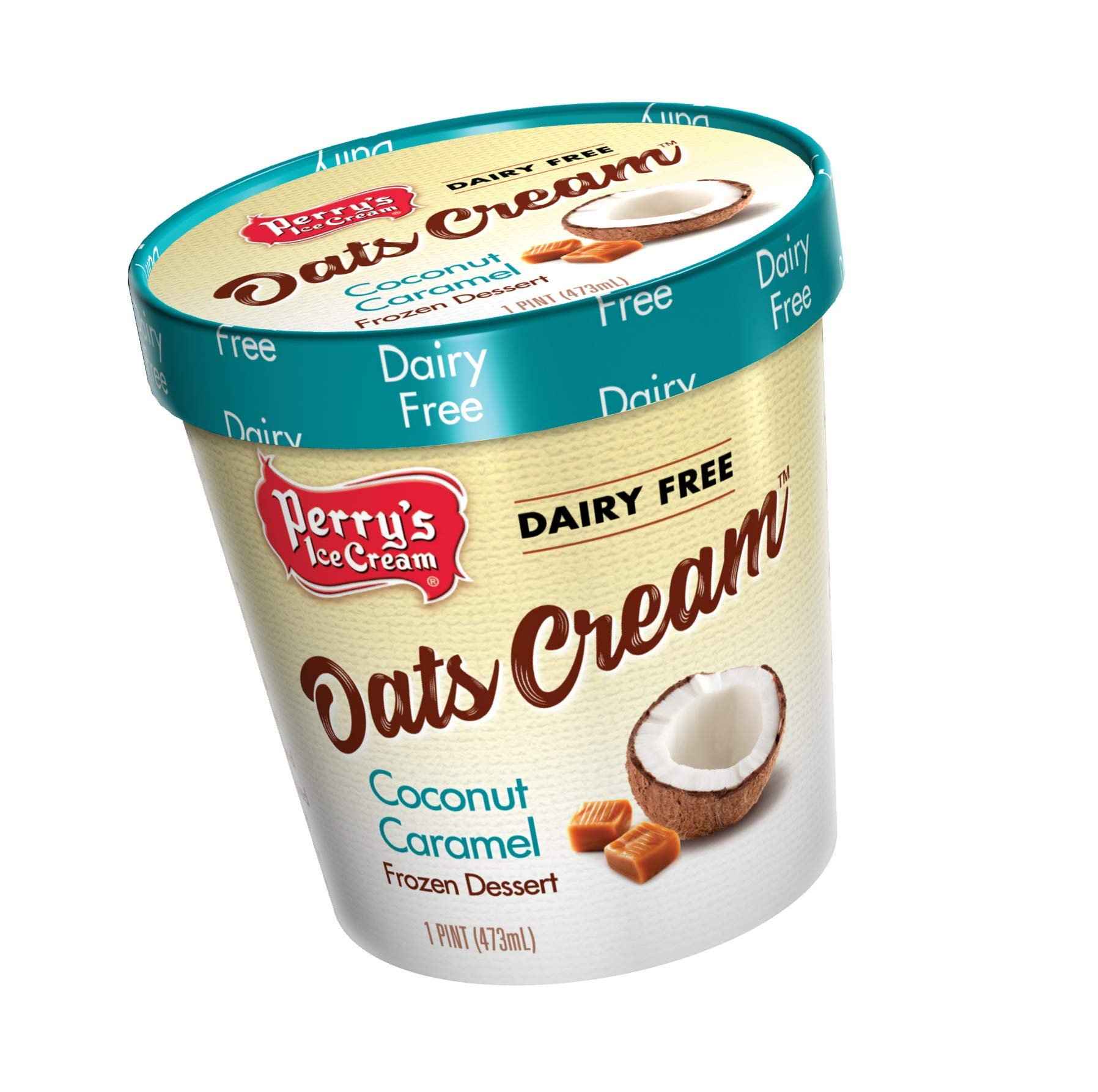 Perry's Ice Cream, Pint, Oats Cream, Coconut Caramel - Pack of 8