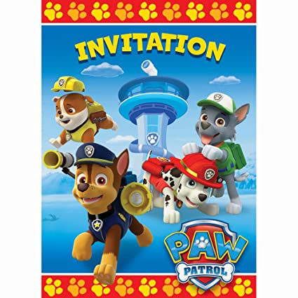 Amazon PAW Patrol Party Invitations 8ct Toys Games