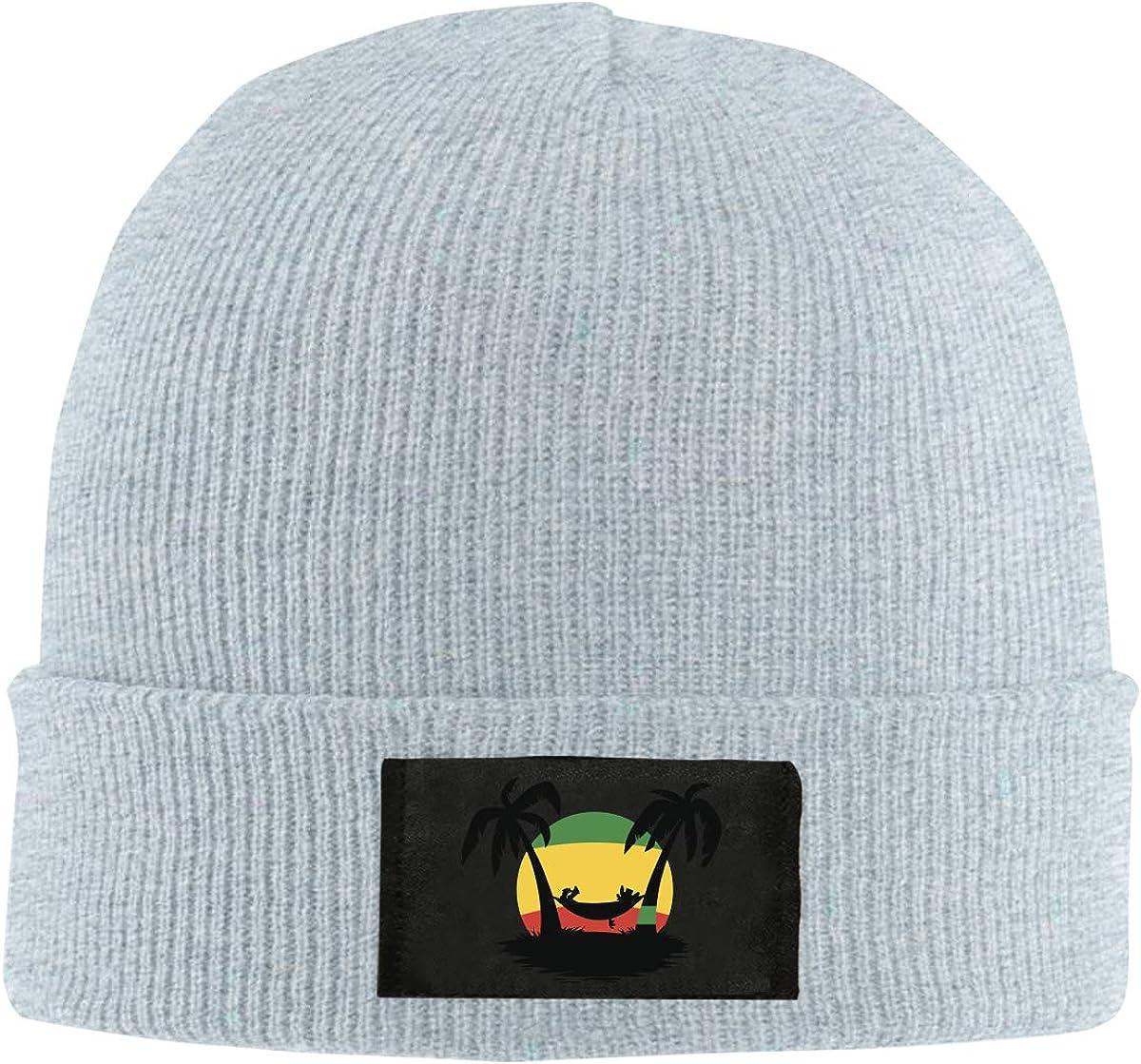 100/% Acrylic Winter Skull Cap BF5Y6z/&MA Unisex Jamaica Rasta Flag Coconut Tree Knitted Cap